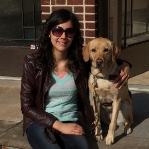 rebekah and jingles on stoop